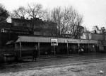 Трамвайная станция Почтовая площадь с характерным для тех времен павильоном, 1930-е годы